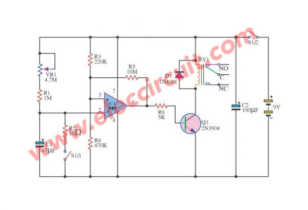 Off Delay Timer Circuit Simple Time Delay Circuit 555 Timer Ic