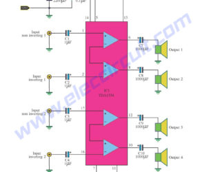 TDA1554 audio amplifier circuits