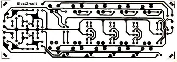 PCB layout transistor equalizer circuit