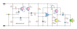 High impedance small amplifier circuits