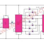 Digital dice circuit using 7 segment display