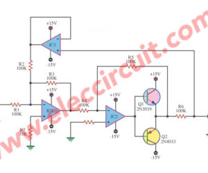 Voltage to current using op-amp and power transistor
