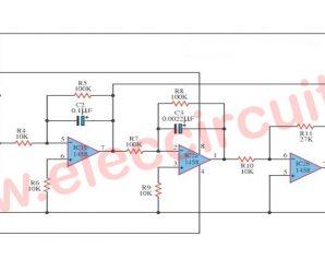 Simple function generator using op amp LM1458