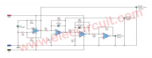 Simple Function Generator Using LM1458