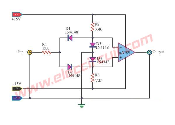 precision peak voltage detector with a long memory time rh eleccircuit com Precision Plating Rectifier Precision Rectifier Plot