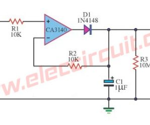 Precision Peak voltage detector with a long memory time.