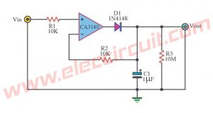 3 Peak voltage tester circuits using op-amp