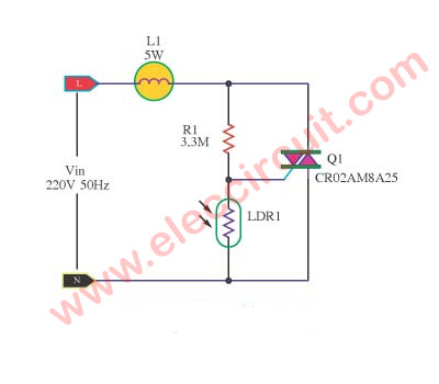 automatic light dimmer circuit electronic projects circuits automatic light dimmer circuit