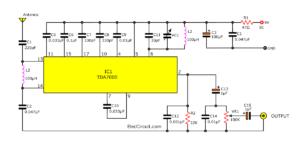FM tuner circuit using TDA7000