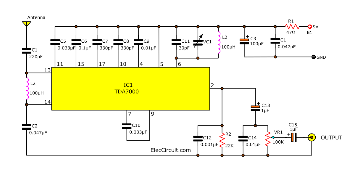 Tda7000 Radio Receiver Circuit Schematic - Wiring Circuit •