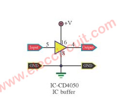 Output Buffer circuit using CD4050