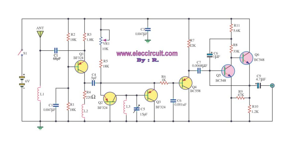 Small FM radio receiver circuit