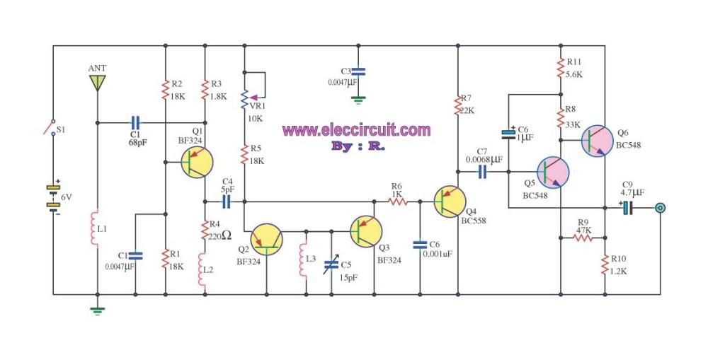fm receiver circuit with pcb - simple circuit ... circuit diagram of radio receiver #12