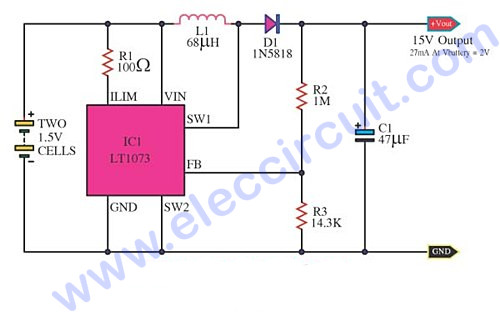 The Most Dc To Dc Converter Step Up Voltage By Lt1073 on voltage regulator ic