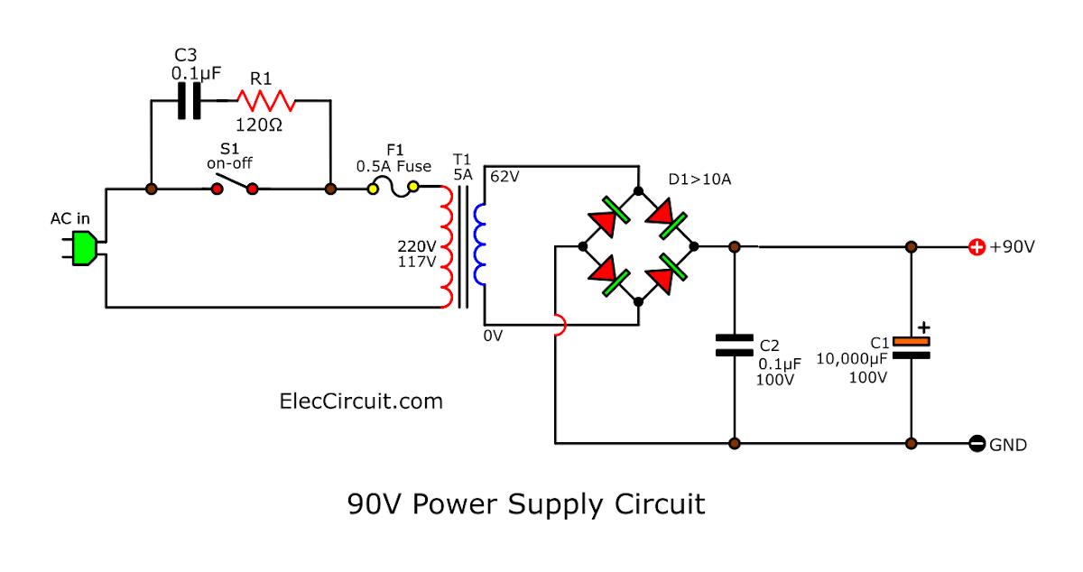Subwooferamplifierpowersupply Powersupplycircuit Circuit