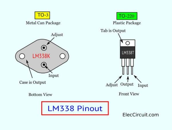 LM338T, LM338K Pinout