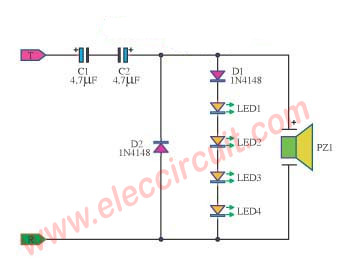 detect ringing signal tone with light and sound telephone bell ringer circuit using ic ka2411 eleccircuit Residential Telephone Wiring Diagram at gsmx.co