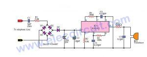 Telephone bell ringer circuit using IC-KA2411