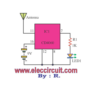 non contact ac voltage detector circuit using cd4060 non contact voltage detector circuit klein tools ncvt 1 non contact voltage