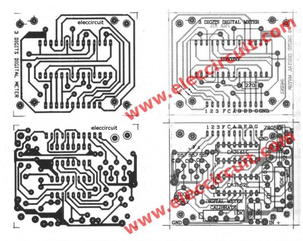 pcb-of-cheap-digital-voltmeter-using-ca3162-and-ca3161