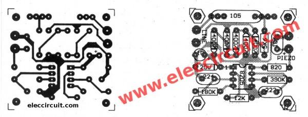 pcb-of-loud-ringer-for-phone-using-ka2411