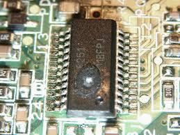 The chip damaged
