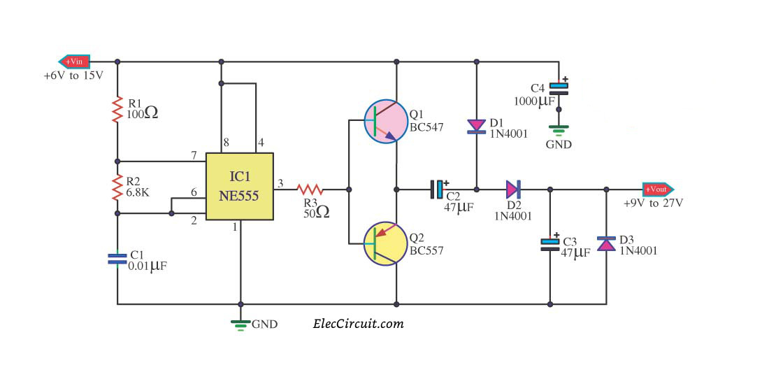 7 Ideas Of 555 Dc Boost Converter Circuits Diagram