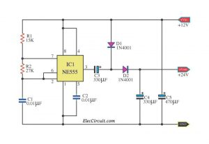 Many 555 DC boost converter circuit