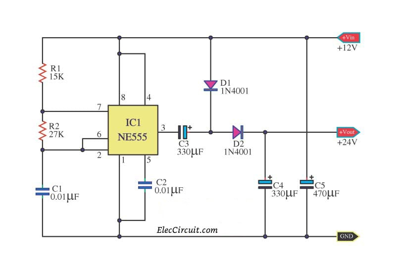 12Vdc To 6Vdc Converter Circuit Diagram | 555 Dc Boost Converter Circuits