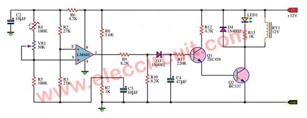 fan controller by temperature sensor using LM393