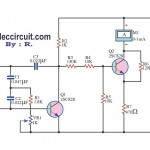 Flyback transformer tester circuit using 2SC828
