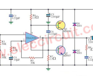 TDA2030 transistor amp circuit with PCB