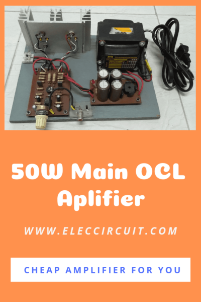 50W main amplifier OCL