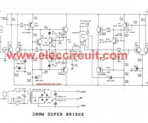 Bass guitar super bridge amplifier 200 watt.