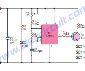 Infrared Remote control transmitters Circuits