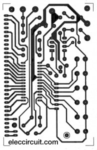 PCB of Cheap Digital time clock with alarm circuit by LM8560