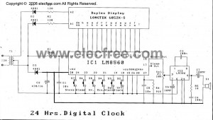 LM8560 24hr digital clock
