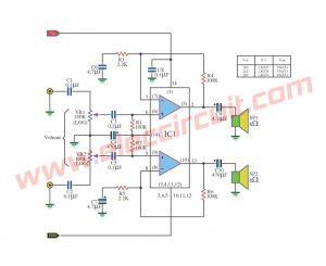 Small IC Power Amplifier  Circuits for speaker