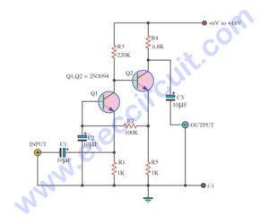 5 Simple audio amplifier circuit diagram using transistor