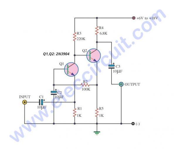 Simple Audio Amplifier Circuit Diagram Using Transistor