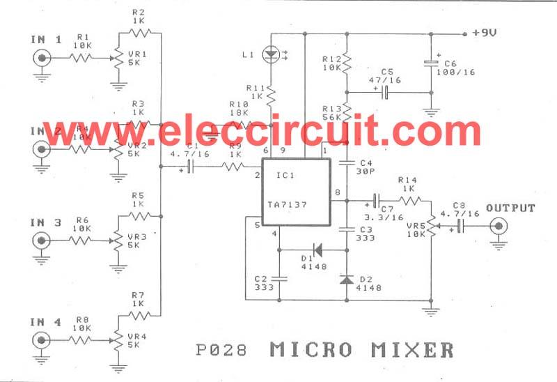 Micro mixer circuit by TA7137