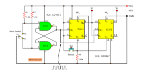 2 bit-binary counter using cd4027