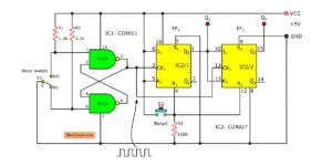 2 bit-binary counter using cd4027