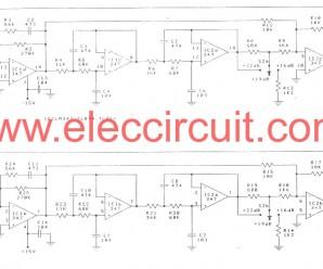 Mini subwoofer circuit using LF347N