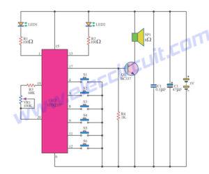 3 Melody tone generator circuits diagram