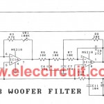 Cheap car subwoofer filter circuits