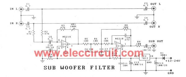 cheap-car-subwoofer-filter-circuits-M5218A