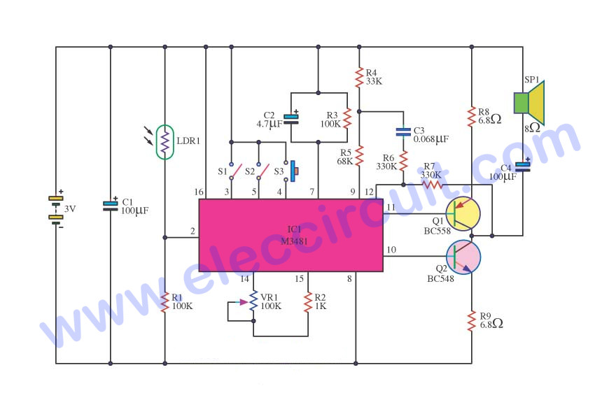 Three music box circuit ideals – Electronic projects circuits