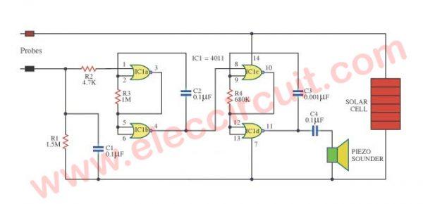 Moisture sensor circuit