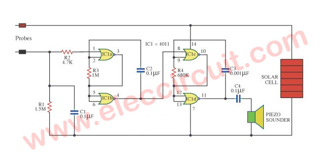 Soil Dry Tester Circuit on soil moisture sensor circuit